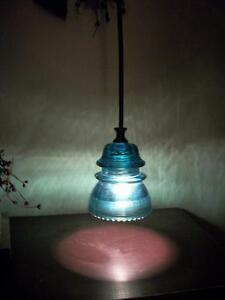 Stunning-Glass-Insulator-Pendant-Light-Color-choices-Steampunk-Light-Fixture