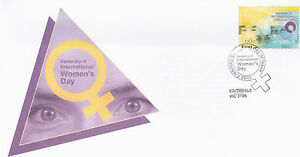 2011-Centenary-of-International-Womens-Day-FDC-Edithvale-Vic-3196-PMK