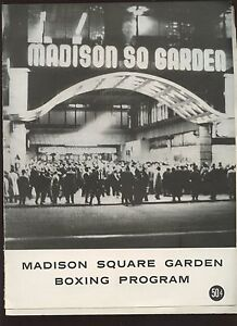 1965 madison square garden boxing program with jose torres ex ebay for Places to eat near madison square garden