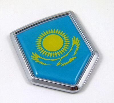 Kazakhstan Flag Kazakh Auto Chrome Emblem Chrome Car Decal Sticker 3D Medalion