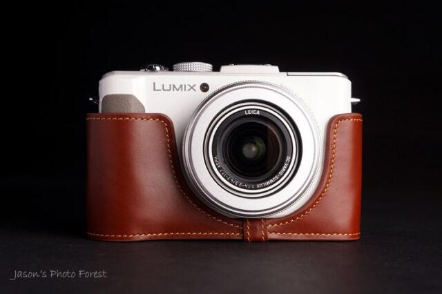 Handmade Genunie real Leather Half Camera Case Camera bag for Panasonic LX7