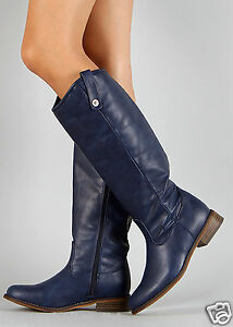 BLUE-Women-039-s-Riding-Knee-High-Boot-Size-5-5-to-11