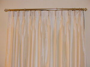 Faux Silk Pinch Pleated Drapes French Pleated Curtains