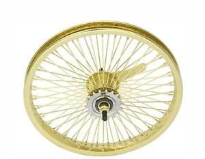 LOW-RIDER-LOWRIDER-BIKE-BICYCLE-16-034-72-Spoke-REAR-Coaster-Wheel-14G-Gold