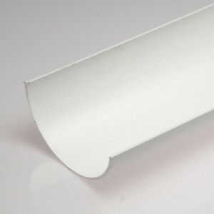 White-Half-Round-Guttering-and-Fittings-Gutter-size-114mm-x-50mm-x-3-6m