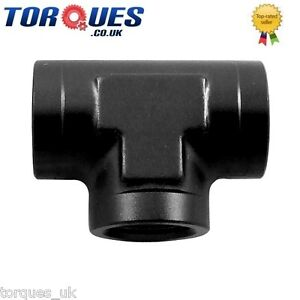 AN-8-8AN-3-4-UNF-Female-Tee-T-Adapter-Fitting-Black