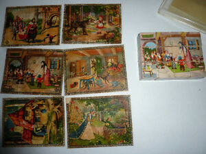 HERBART vintage wooden Block PUZZLE Fairy Tales - Snow White Germany US ZONE
