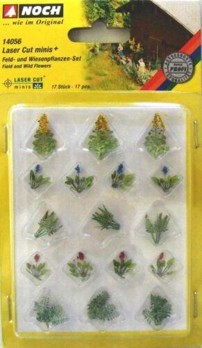 NOCH 14056 H0, Laser-Cut minis Feld & Wiesenpflanzen, Neu