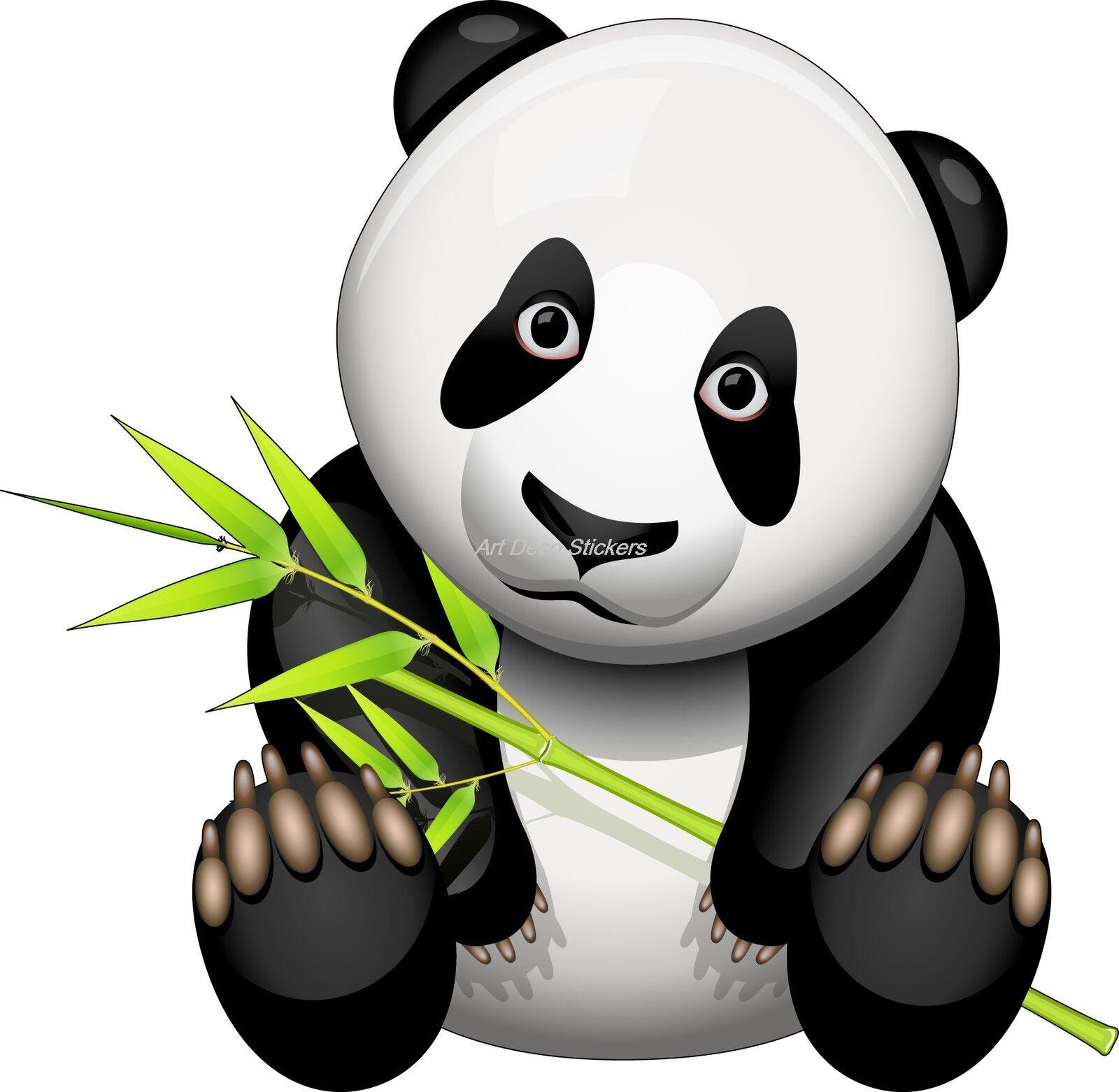Aufkleber Kind Panda Ref 925 (Abmessungen der 10 cm 130 cm Höhe
