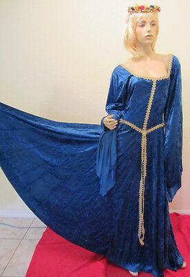 XL Renaissance Medieval Victorian Celtic Irish Ballroom Dance Prom Dress Gown 9R