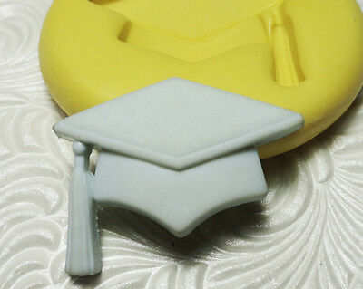 Silicone Resin Polymer Clay Fimo Fondant Flexible Push Mold GRADUATION CAP HAT