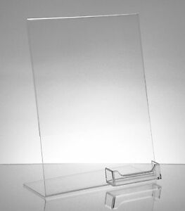 10-Acrylic-8-1-2x11-Slanted-Sign-Holders-with-Attached-Business-Card-Holder
