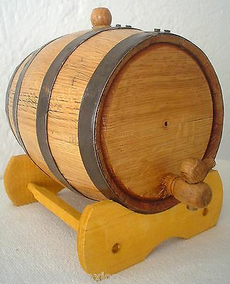 """3 Liter White Oak Barrel Cask 'THICKEST WOOD' Compare at 4 lbs Shipping Weight"""