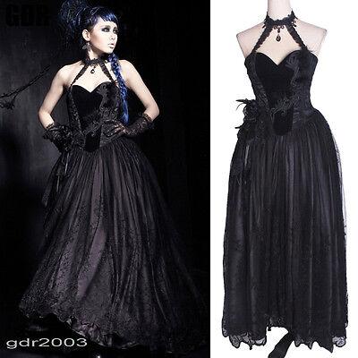 GOTHIC DARK ELEGANT ROSE LOVE LOLI Princess DRESS Q184 S-2XL