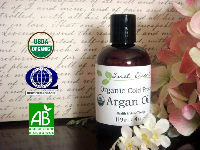 USDA Certified 100% Pure Organic Moroccan Argan Oil -4oz- Imported From Morocco