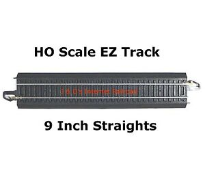 HO-SCALE-MODEL-RAILROAD-TRAIN-LAYOUT-BACHMANN-STEEL-ALLOY-9-034-STRAIGHT-IN-BULK