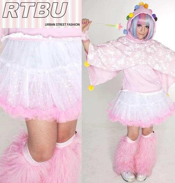 MAGIC STAR SPARKLE DECORA PUFFY TUTU Fairy Lolita skirt