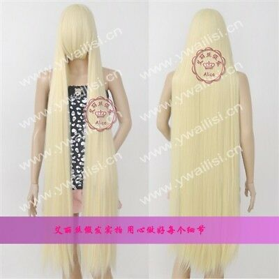 Long:150CM Chobits Chii Blonde Straight Cosplay Party Wig Fashion Cos Wig Hair