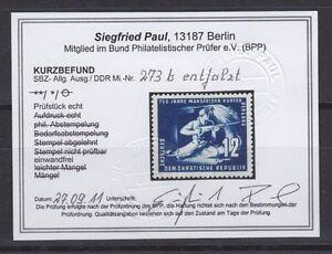 DDR-273-b-ungebraucht-mit-Falz-geprueft-Befund