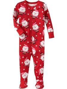 Nwt Old Navy Red Santa Footed Pajamas Sleeper Toddler 2t