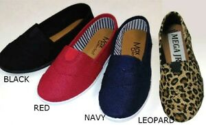 New-Women-Slip-On-Casual-Canvas-Flat-Shoes-Size