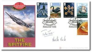 FIRST-DAY-COVER-SHEPHERD-NEAME-SPITFIRE-FDC-SIGNED-NEVILLE-DUKE-amp-PETER-TWISS