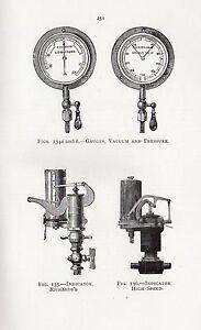 1921 PRINT ~ GAUGES VACUUM & PRESSURE INDICATOR RICHARD'S REVERSE HELIOGRAPH