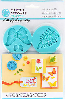 Garden Butterfly Mold for Crafters Clay Martha Stewart Crafts Paper Crafting NEW