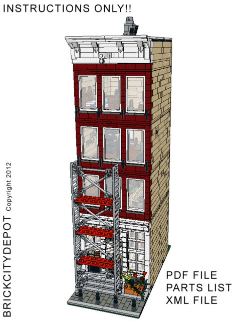 Lego Custom Modular Building - Amsterdam Gift Shop - INSTRUCTIONS ONLY!! 10182