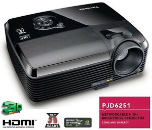 Better-than-PJD5523W-ViewSonic-PJD6251-3D-Net-RJ45-HDMI-3700-Lumens-Projector