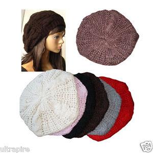 New-Fashion-6-Colors-Warm-Winter-Women-Beret-Braided-Baggy-Beanie-Hat-Ski-Cap-O