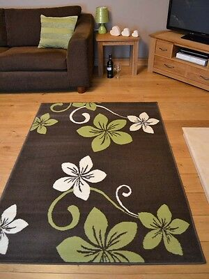 New Dark Brown Lime Green Small Extra Large Big Size Floor Carpet Rugs Rug Mat