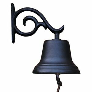Whitehall Products Bell w/ bracket Dinner Country Bell Black hanging