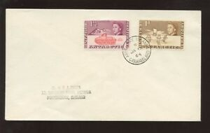 BRITISH-ANTARCTIC-1964-PICTORIALS-2v-COVER-ARGENTINE-Is