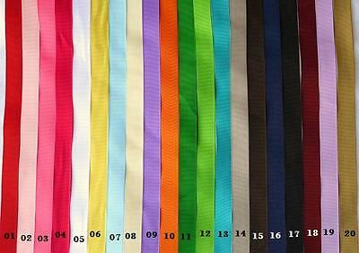 """50 yard Solid Grosgrain 1.5"""" inch Wide Ribbon/Craft/20 Color GR15-Roll FREE SHIP"""