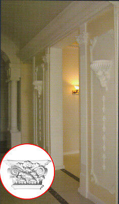 "10-1/2"" Capital Fluted Pilaster Panel Moulding Molding"