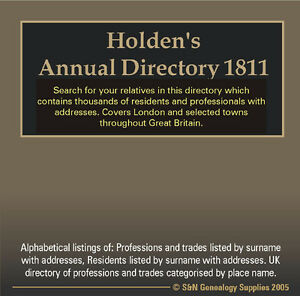 Holdens-Annual-Directory-1811-includes-London-United-Kingdom-Directory