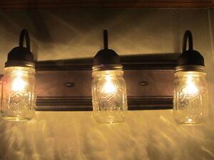 Mason Jar Bathroom Vanity Light Fixture Oil Rubbed Bronze 3 Light Ebay