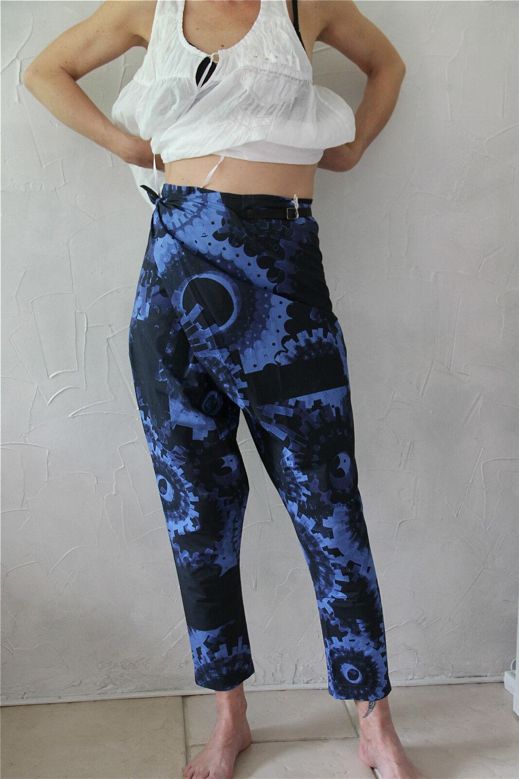 Pantalon pantacourt tablier blue M& FRANCOIS GIRBAUD 36 NEUF ÉTIQUETTE