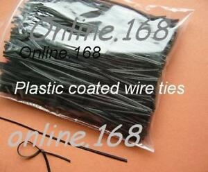 Plastic-Coated-Wire-Ties-Twist-Ties-1000pcs-6-150mmBlk