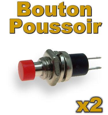 915/2# Bouton poussoir rouge 2 pcs