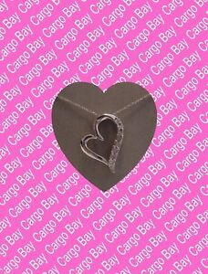 Sterling-Silver-with-Diamonds-Heart-Pendant-Necklace-Beautiful-Free-Shipping