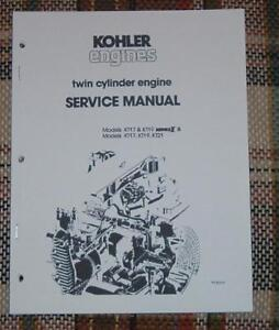 Service Manual for kohler Engine Courage 22 Hp Ohv Intek manual