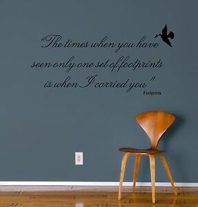 wall art sticker - footprints quote decal, bedroom, kitchen
