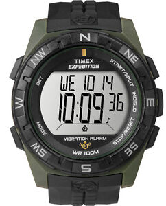 NEW-Timex-T498529J-T49852-Men-039-s-Expedition-Vibration-Alarm-Watch