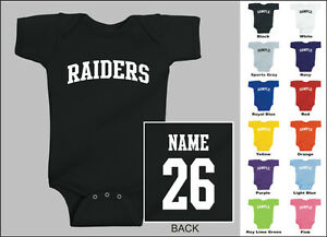 Raiders-Baby-One-Piece-Creeper-Romper-Personalized-Custom-Name-amp-Number