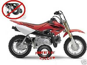 1 new set of honda 50 motorcycle training wheels . crf50 xr50 z50