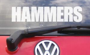 8-034-HAMMERS-Vinyl-car-window-bumper-sticker-decal-west-ham-FC-shirt