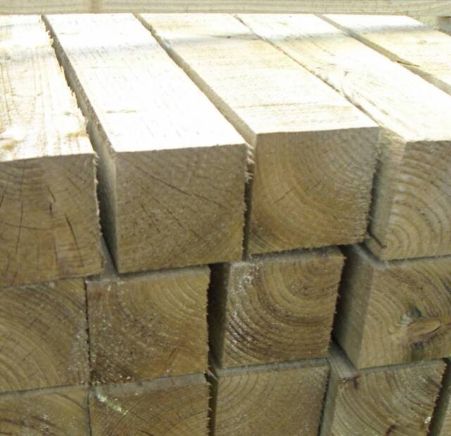 Pressure Treated 3m x 100mm x100 mmTimber Fence Post