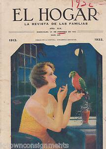 el hogar vintage 1930s parakeet magazine w